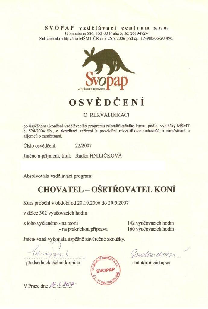 OS_Svitani_vedouci_instruktorka_vycviku_koni